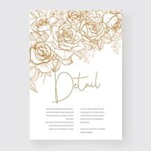 精美花纹婚礼请柬模板矢量图片