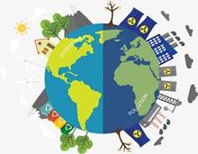 地球环境污染治理矢量图