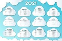2021日历图设计矢量图片