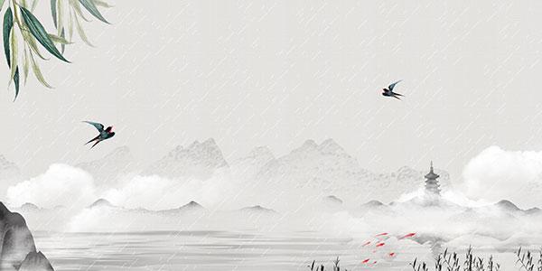 江南烟雨古风背景
