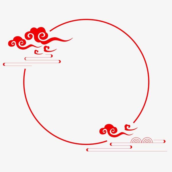 中国风祥云装饰主题边框