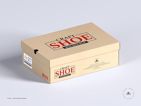 免费鞋盒包装样机模型