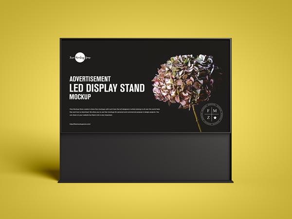 免费广告LED展示架样机模型