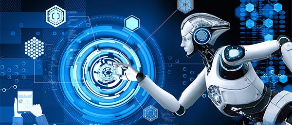 科技和机器人主题背景设计PSD模板