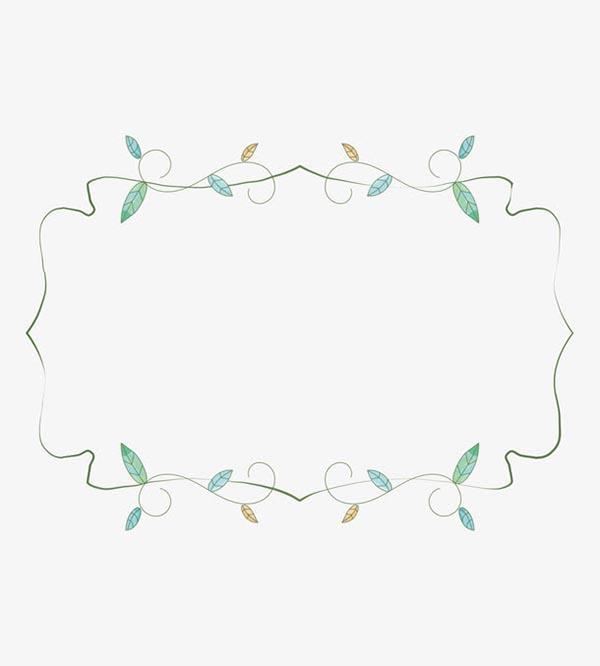 绿色春季花藤框架