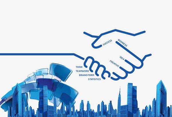 商务合作插图两人握手