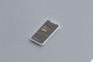 灰色款式智能手机侧视图样机源文件
