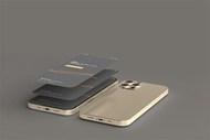 金色质感效果智能手机样机模板素材