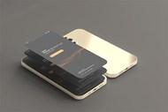 金色款智能手机前后视角样机源文件