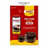 美味蛋糕宣传海报设计
