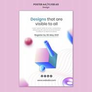 创意三维设计psd海报模板
