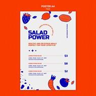 手绘果蔬菜单模板设计
