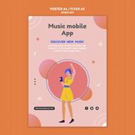 音乐手机应用海报模板