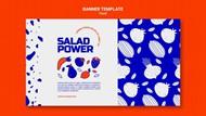 果蔬宣传横幅模板设计