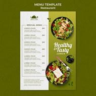 健康食品餐厅菜单模板