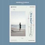 冲浪运动海報模板设计