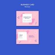 粉色商务名片模板设计