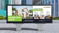 房屋销售户外宣传广告牌分层源文件
