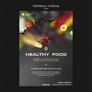美食宣傳單模板設計psd