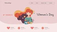 妇女节登陆页模板