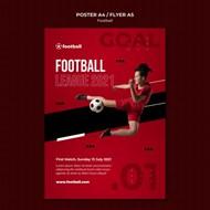 女性足球海报模板设计