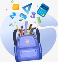 开学季学习工具组合素材
