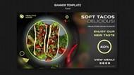 美味沙拉广告横幅模板