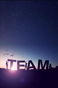 团队精神团结协作背景