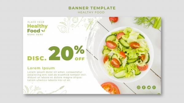 健康食品餐�d�M幅模板