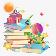 梦幻创意开学季插画