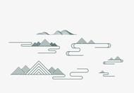 国潮中国风复古烟山纹