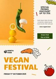 新鲜蔬菜分层PSD海报设计