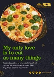 美味披萨广告PSD海报设计