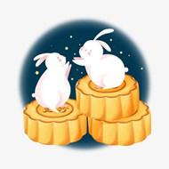 玉兔月饼中秋