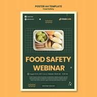 食品安全海报设计模板