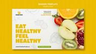 新鲜水果促销横幅模板