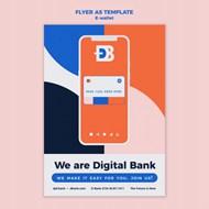 手机电子钱包宣传单设计