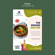 健康果蔬沙拉psd海报