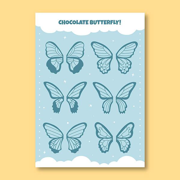 可爱蝴蝶翅膀矢量图片