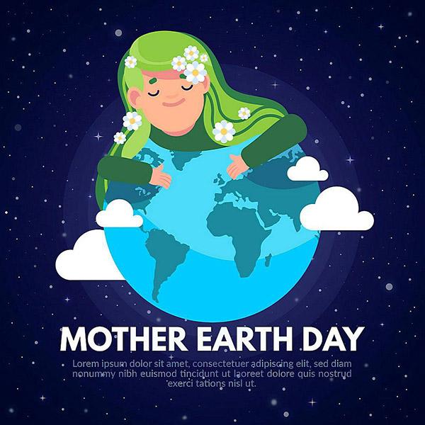 地球母亲日插画矢量素材下载