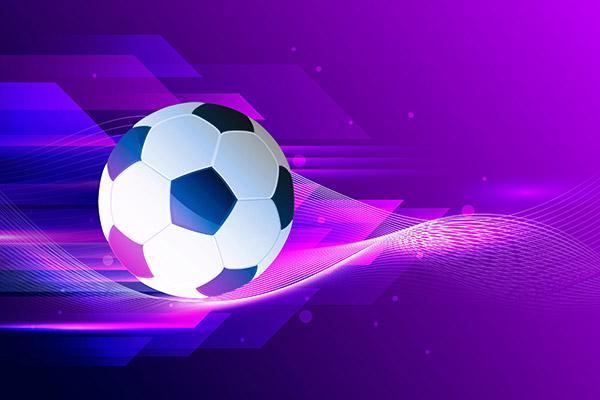 抽象足球背景矢量图