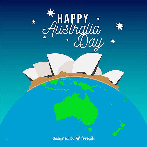 澳大利亚日矢量模板