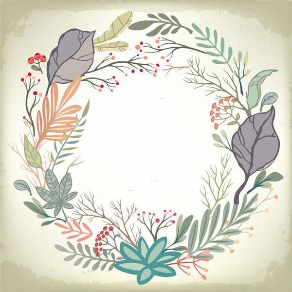浪漫花卉框架矢量图片