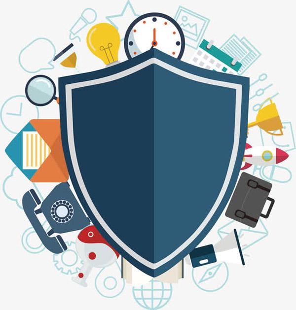 数据安全保证矢量模板