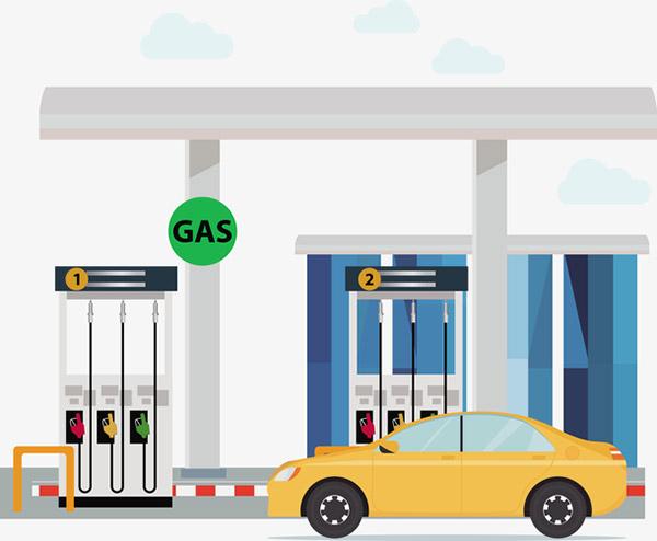 汽车加油站矢量素材