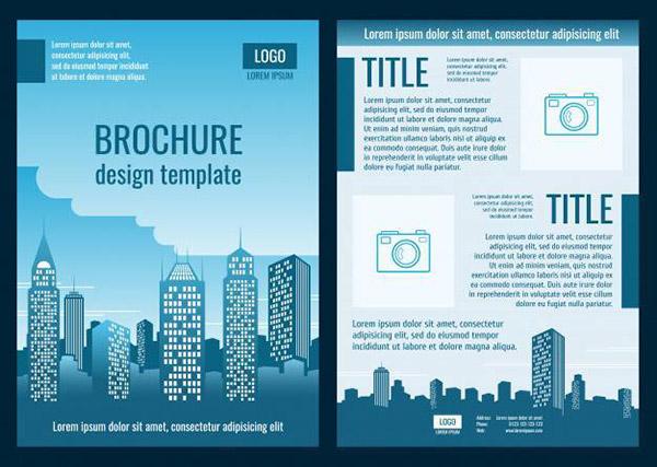 建筑公司业务宣传册矢量素材下载