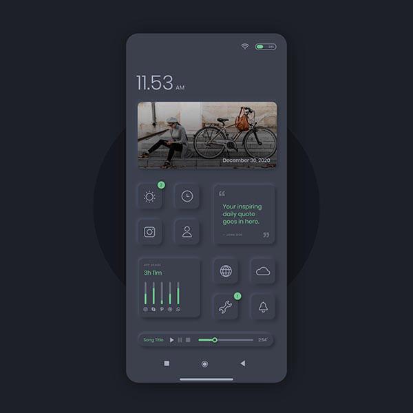 手机UI模板矢量图片