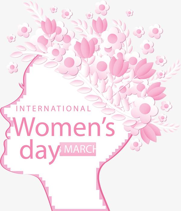 粉红色花朵女人节矢量图下载