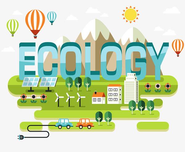 环保城市绿色能源矢量素材下载
