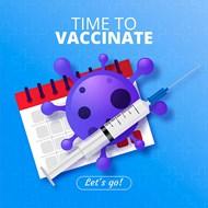 新冠疫苗接种宣传单矢量图